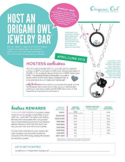 Hostess With The Mostess Origami Owl